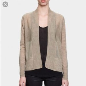 ALL SAINTS / BLACK MERINO WOOL TREY CARDIGAN
